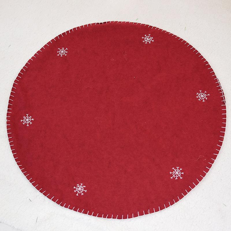 Creative Simple Pure Color Christmas Tree Skirt