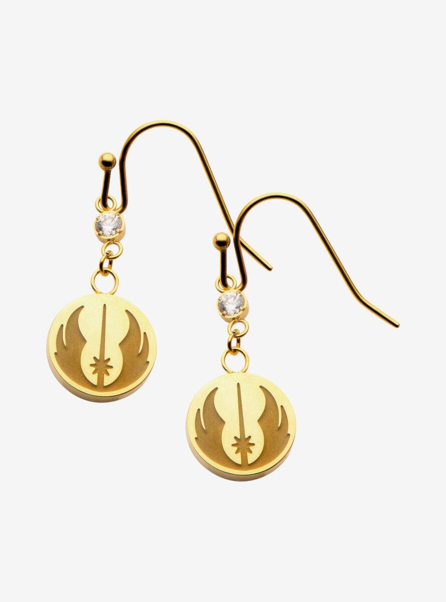 Star Wars Gold Plated Jedi Earrings