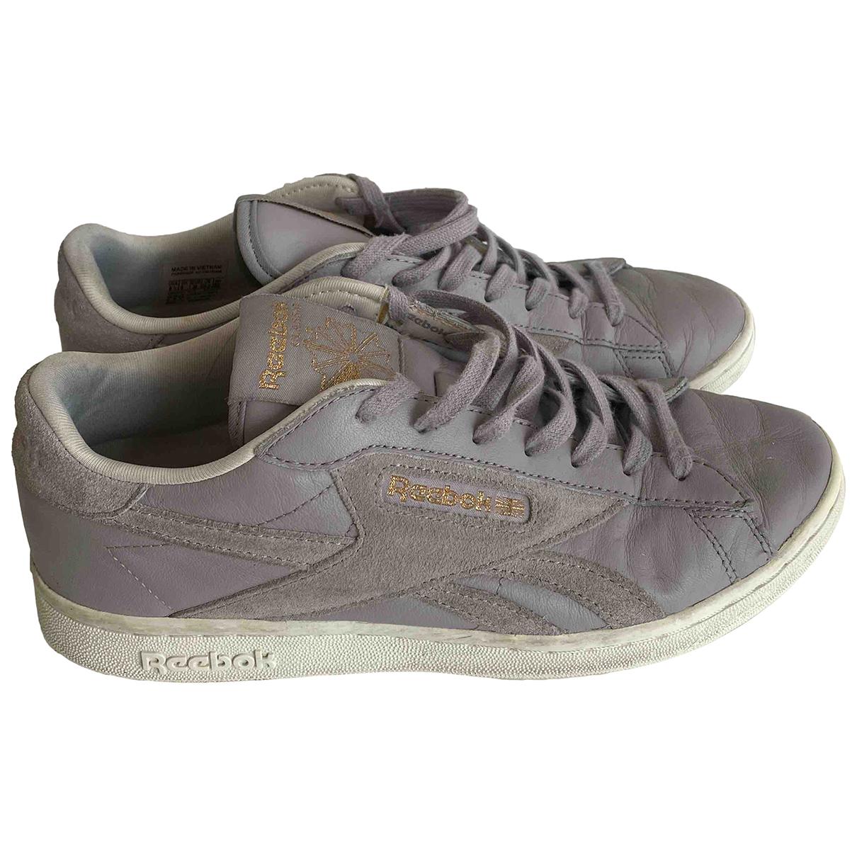 Reebok \N Sneakers in  Lila Leder