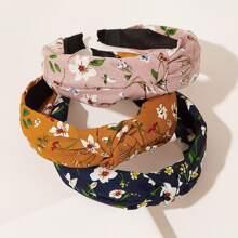 3pcs Ditsy Blumendruck-Stirnband