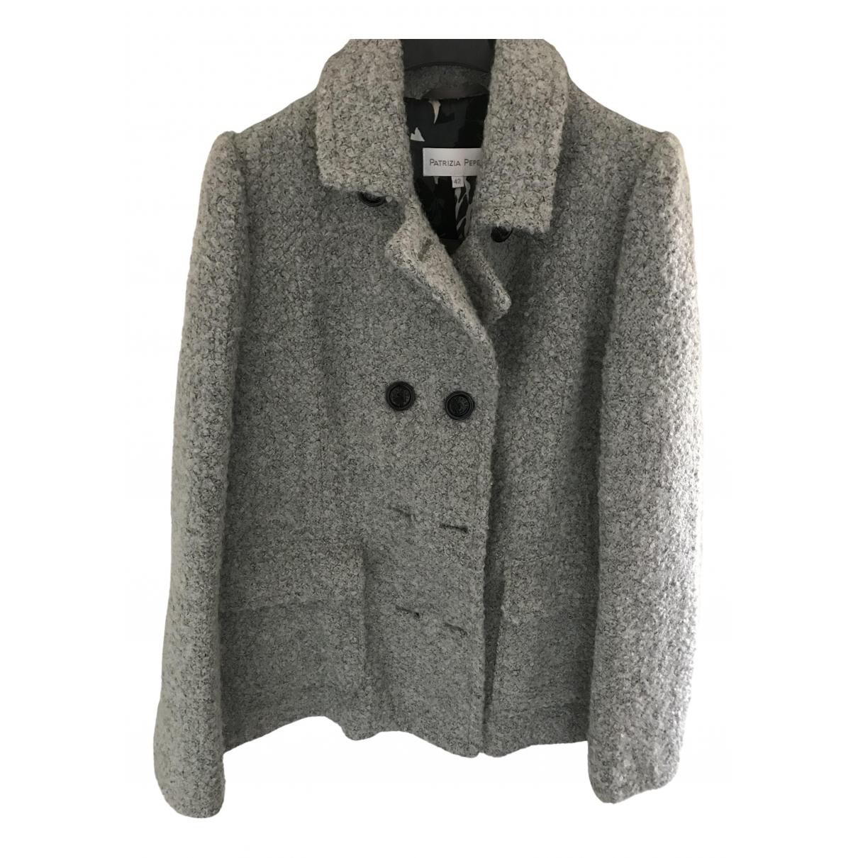 Patrizia Pepe N Grey coat for Women 42 IT