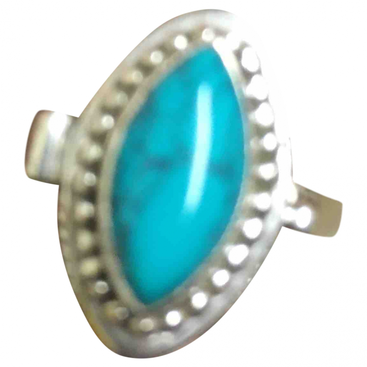 Non Signé / Unsigned Turquoises Turquoise Silver ring for Women 50 EU