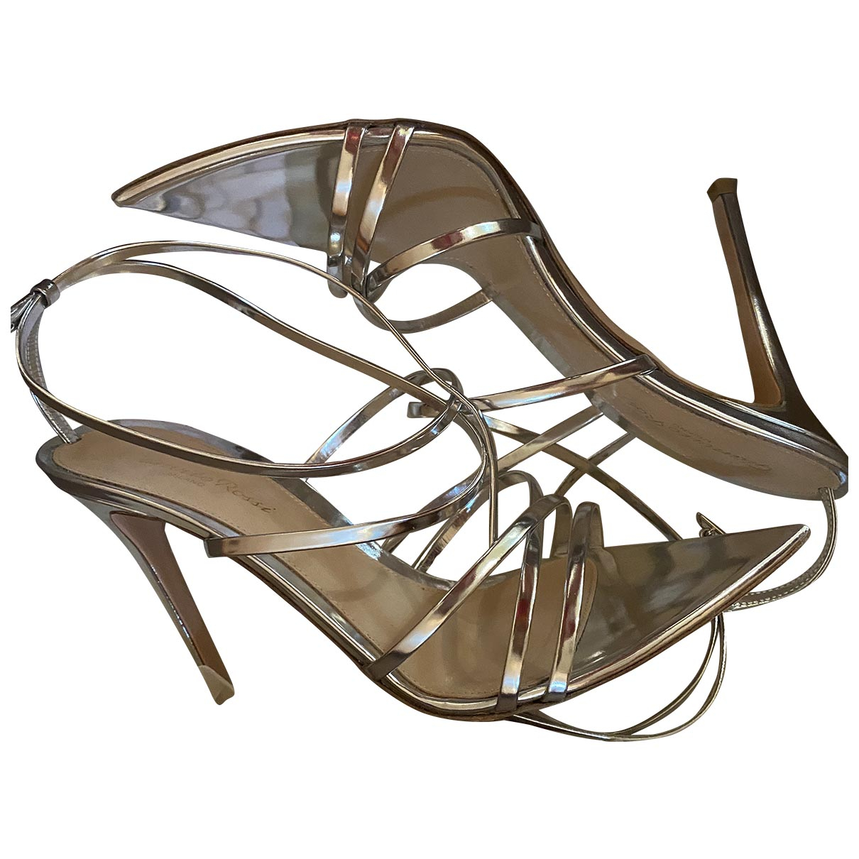 Gianvito Rossi \N Silver Leather Sandals for Women 39 EU