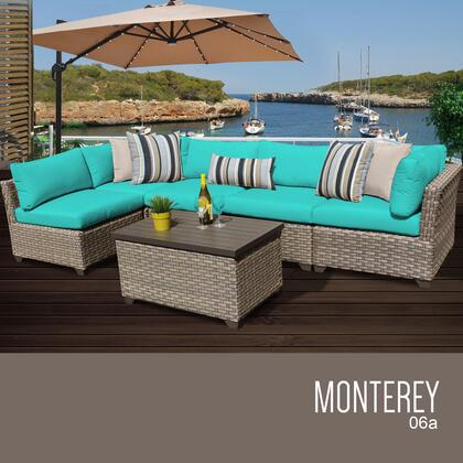 MONTEREY-06a-ARUBA Monterey 6 Piece Outdoor Wicker Patio Furniture Set 06a with 2 Covers: Beige and