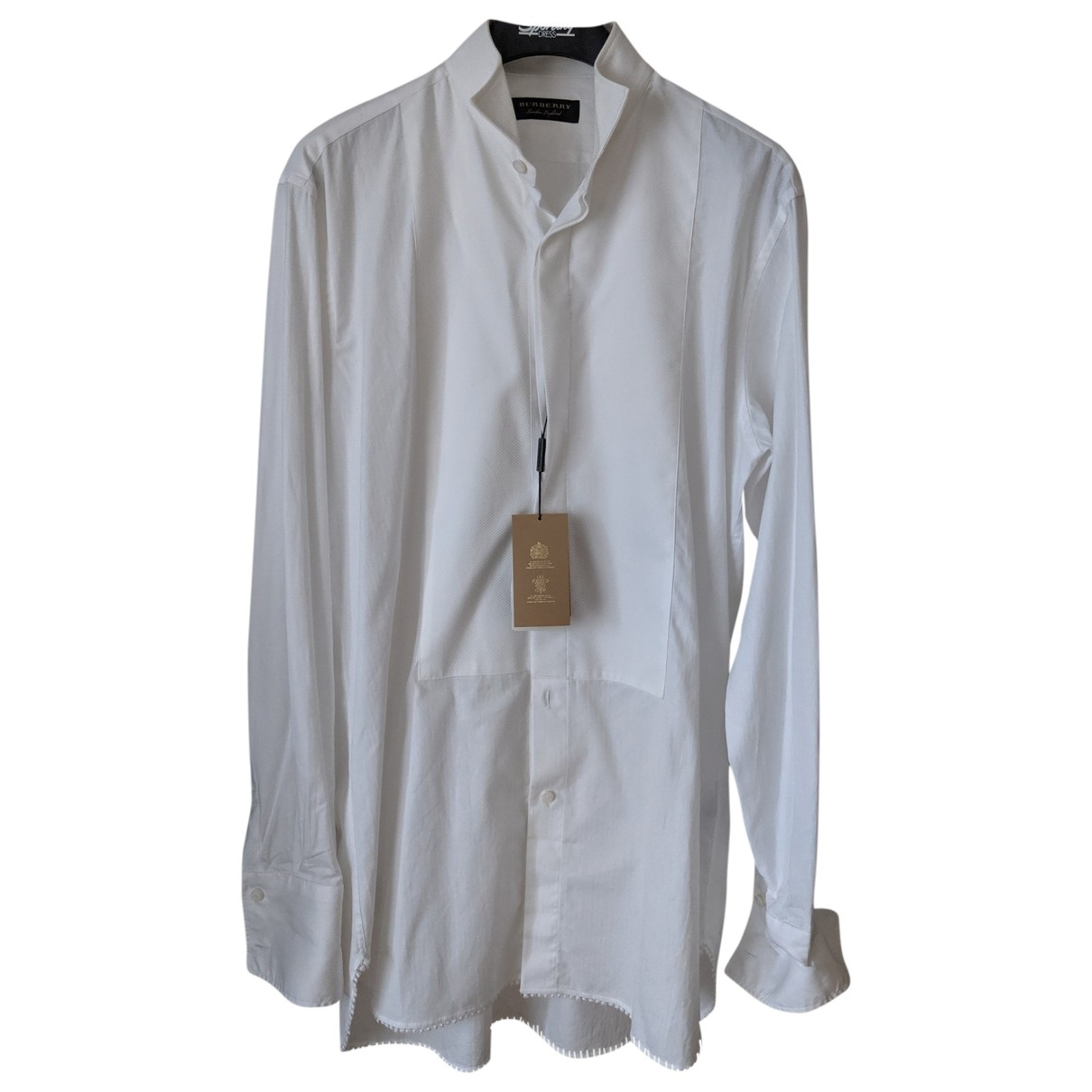Burberry \N White Cotton Shirts for Men 15.5 UK - US (tour de cou / collar)