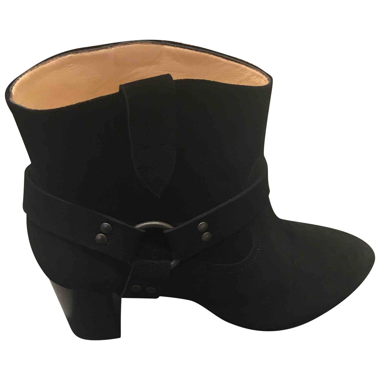 Morobe - Bottes   pour femme en suede - noir