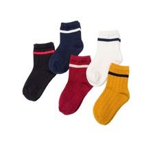 Kleinkinder Gerippte Socken 5Paare