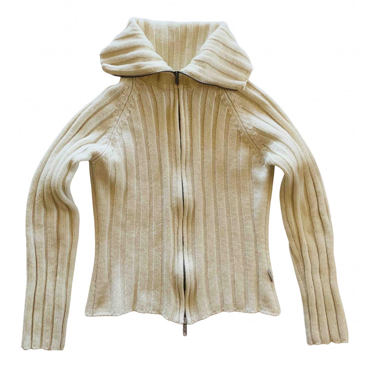Gas - Pull   pour femme en laine - blanc