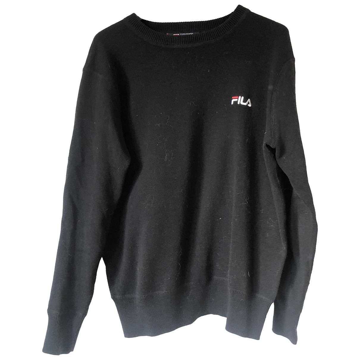 Fila - Pull   pour femme en coton - noir