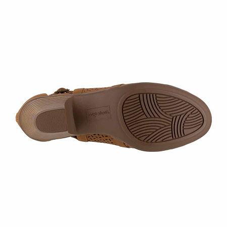 Easy Street Carrigan Womens Slip-On Booties, 10 Wide, Brown
