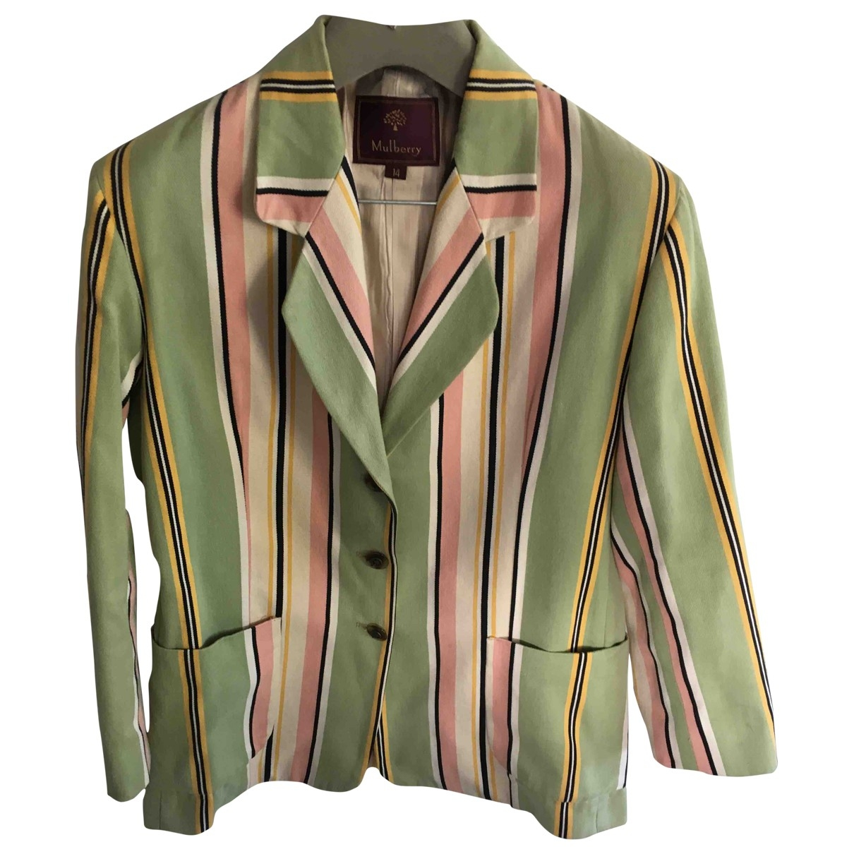 Mulberry \N Green Cotton jacket for Women 14 UK