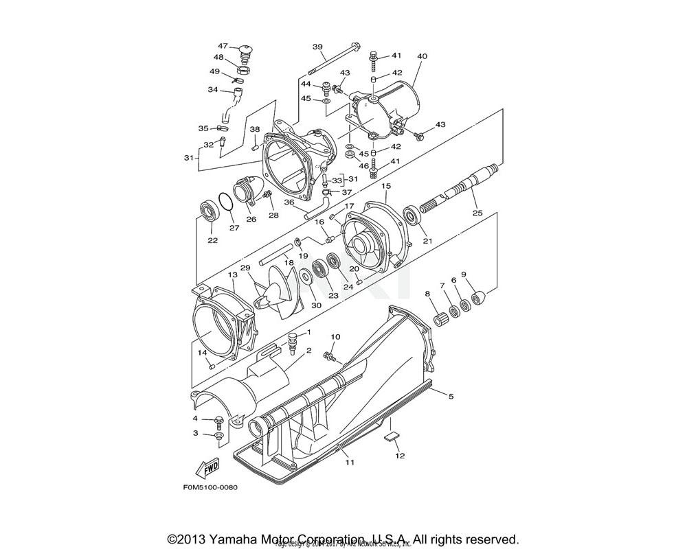 Yamaha OEM 6R8-51367-01-00 FELT, PACKING