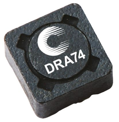 Cooper Bussmann , DRA, 74 Shielded Wire-wound SMD Inductor with a Ferrite Core, 6.8 μH ±20% Wire-Wound 3.68A Idc (5)