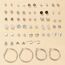 30 pares pendientes con diamante de imitacion