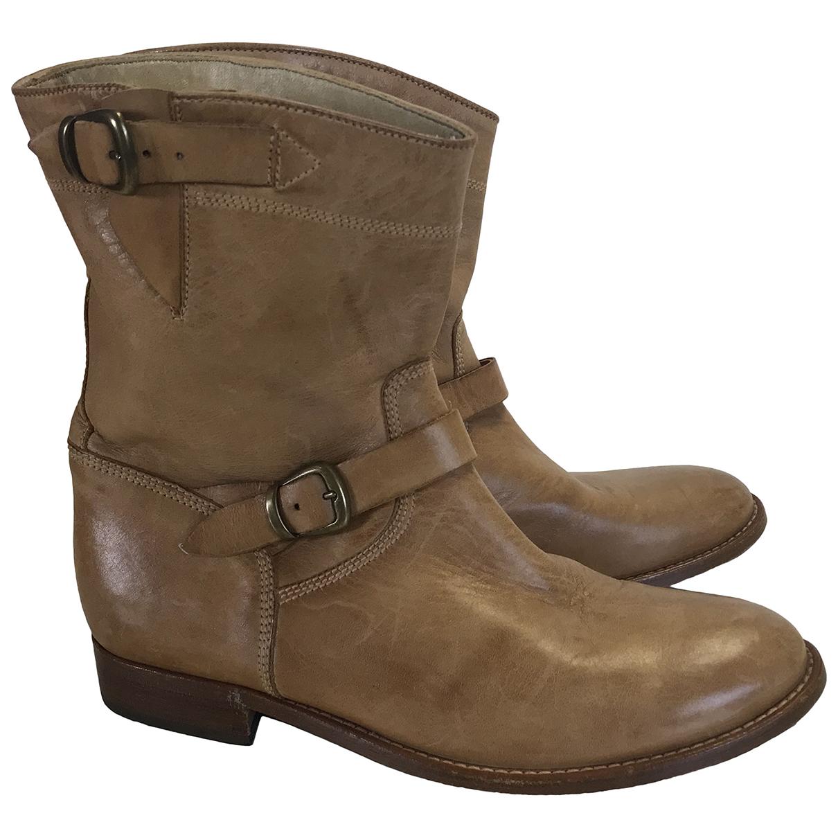 Belstaff \N Stiefeletten in  Braun Leder