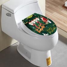 Christmas Pattern Closestool Sticker