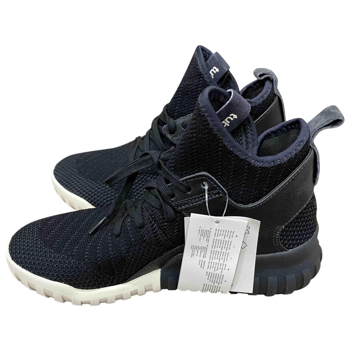Adidas - Baskets Tubular pour homme en toile - noir