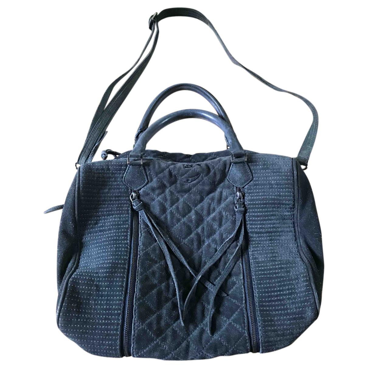 Zadig & Voltaire Sunny Grey Suede handbag for Women N