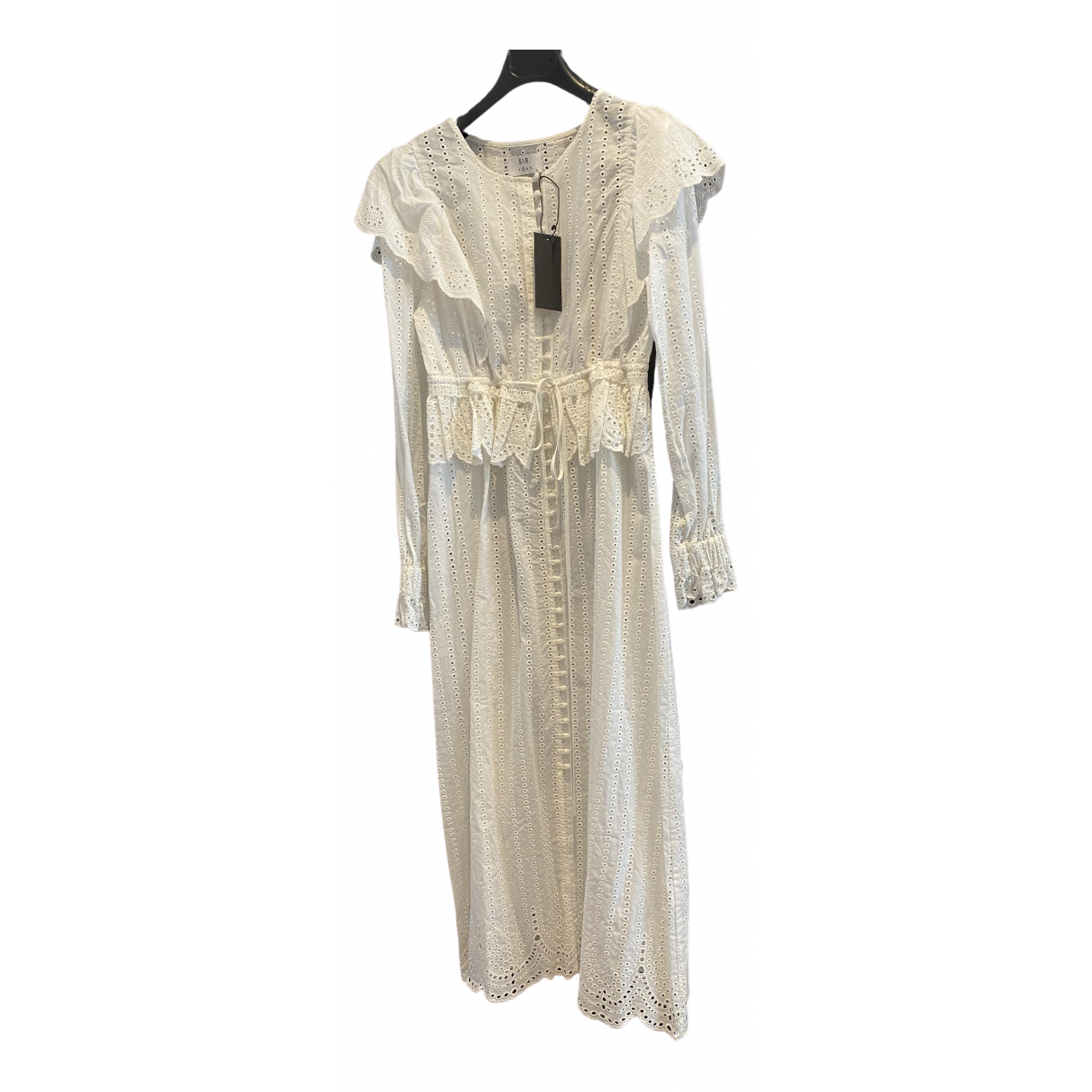 Sir \N Kleid in  Weiss Baumwolle