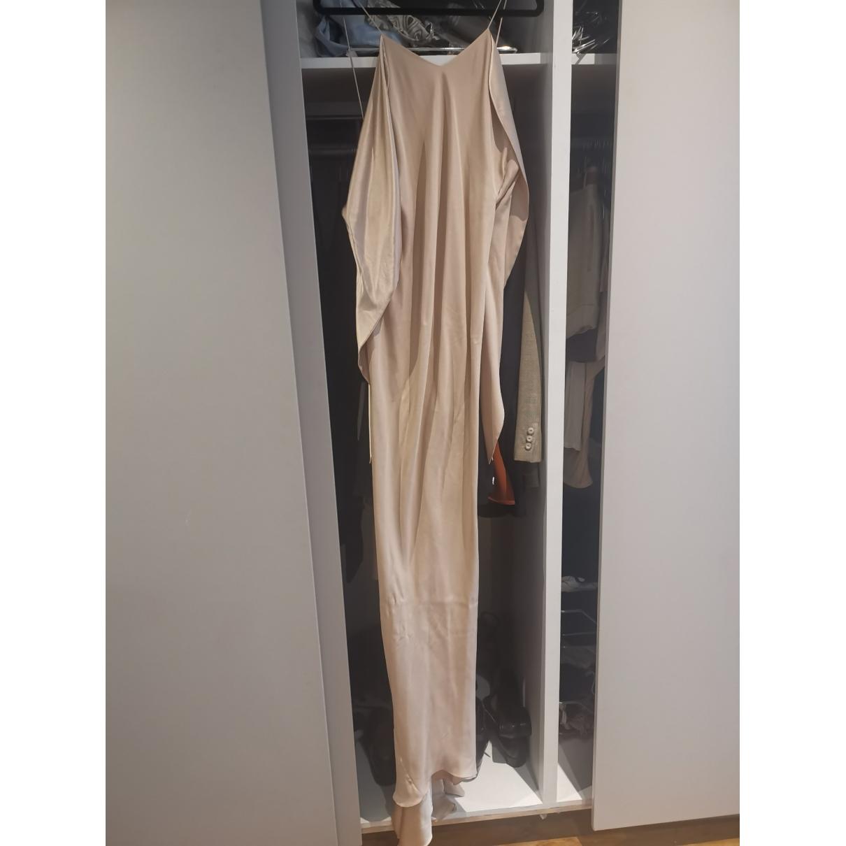 Ermanno Scervino \N Beige Silk dress for Women 36 FR