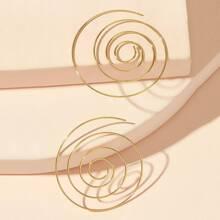 Spiral Shaped Earrings 1pair