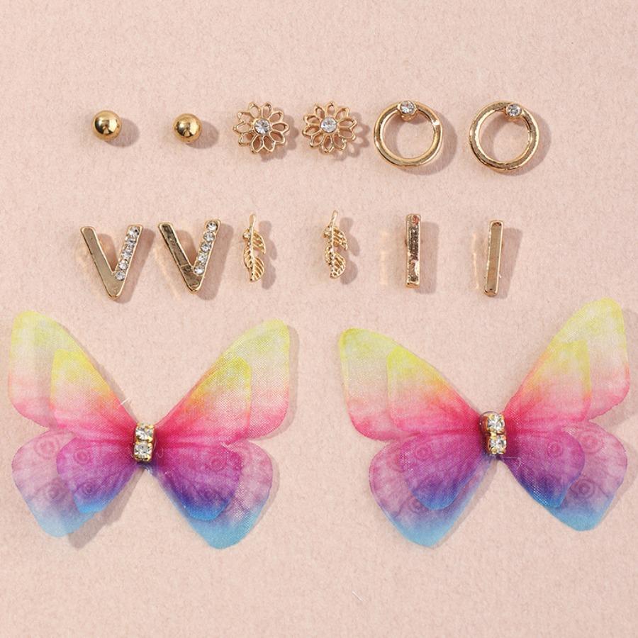 LW lovely Stylish Butterfly Gold Earring