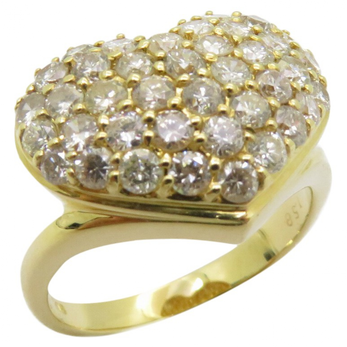 Non Signé / Unsigned Motifs Coeurs Gold Yellow gold ring for Women 6 ¼ US