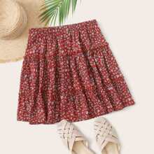 Ditsy Floral Layered Skirt