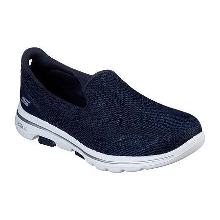 Skechers Go Walk 5 Womens Walking Shoes, 9 Medium, Blue