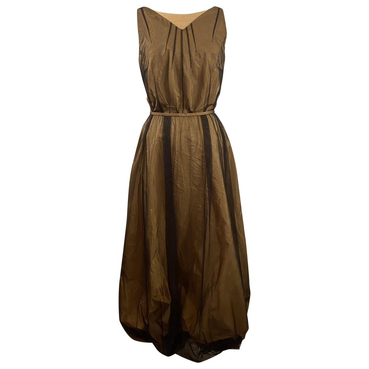 Laurel \N Kleid in  Beige Seide