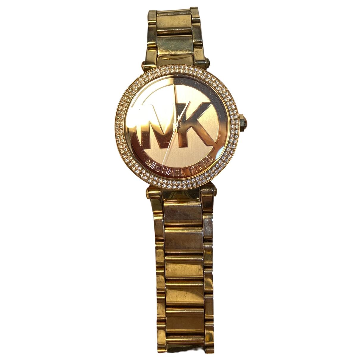 Michael Kors - Montre   pour femme en acier - dore