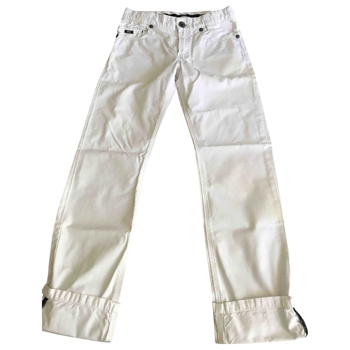 Boss \N White Cotton Trousers for Kids 10 years - up to 142cm FR