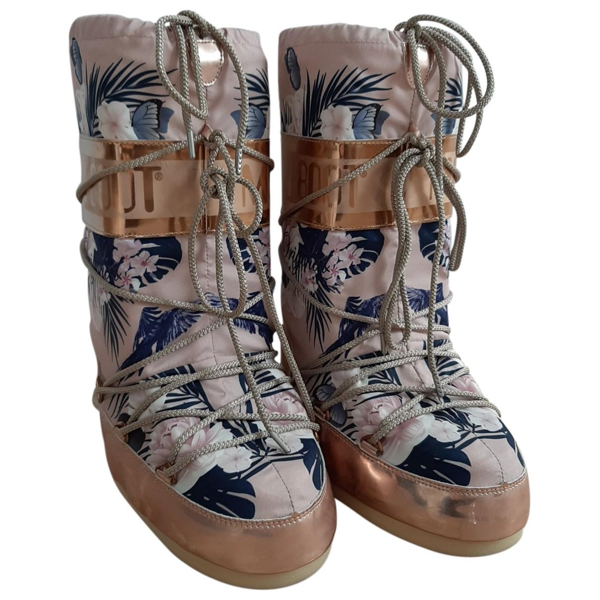 Moon Boot - Bottes   pour femme - rose