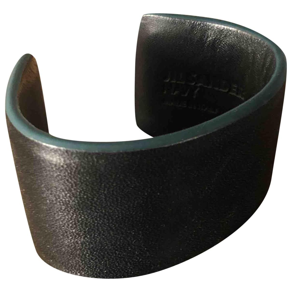 Jil Sander \N Armband in  Schwarz Leder