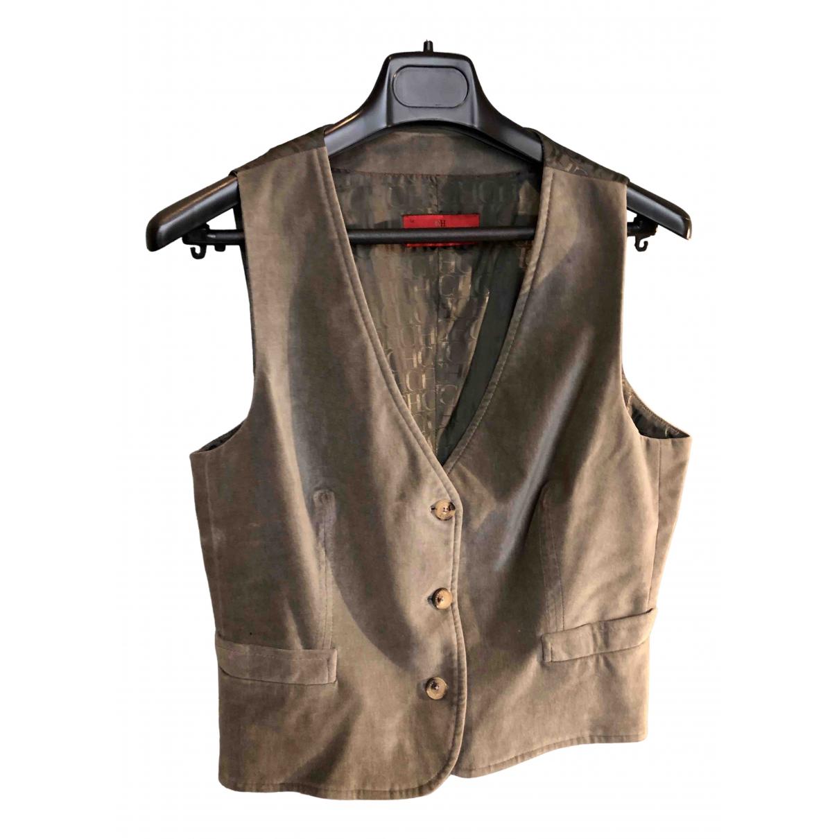 Carolina Herrera - Veste   pour femme en coton - gris