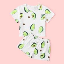 Toddler Girls Avocado PJ Set