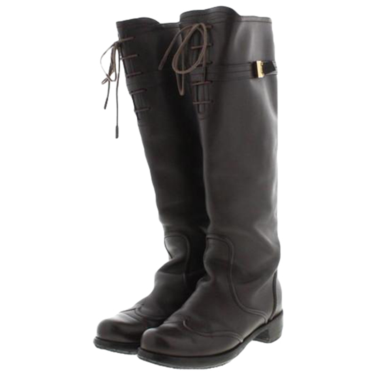 Louis Vuitton \N Brown Leather Boots for Women 37 EU