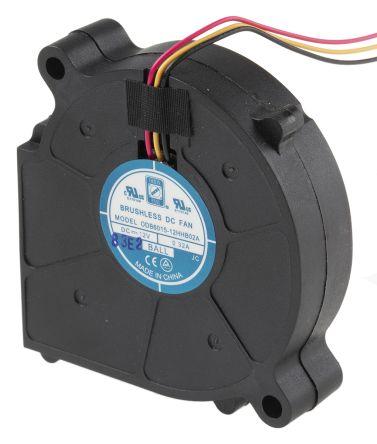 RS PRO Centrifugal Fan, 7.45cfm, 12 V dc DC