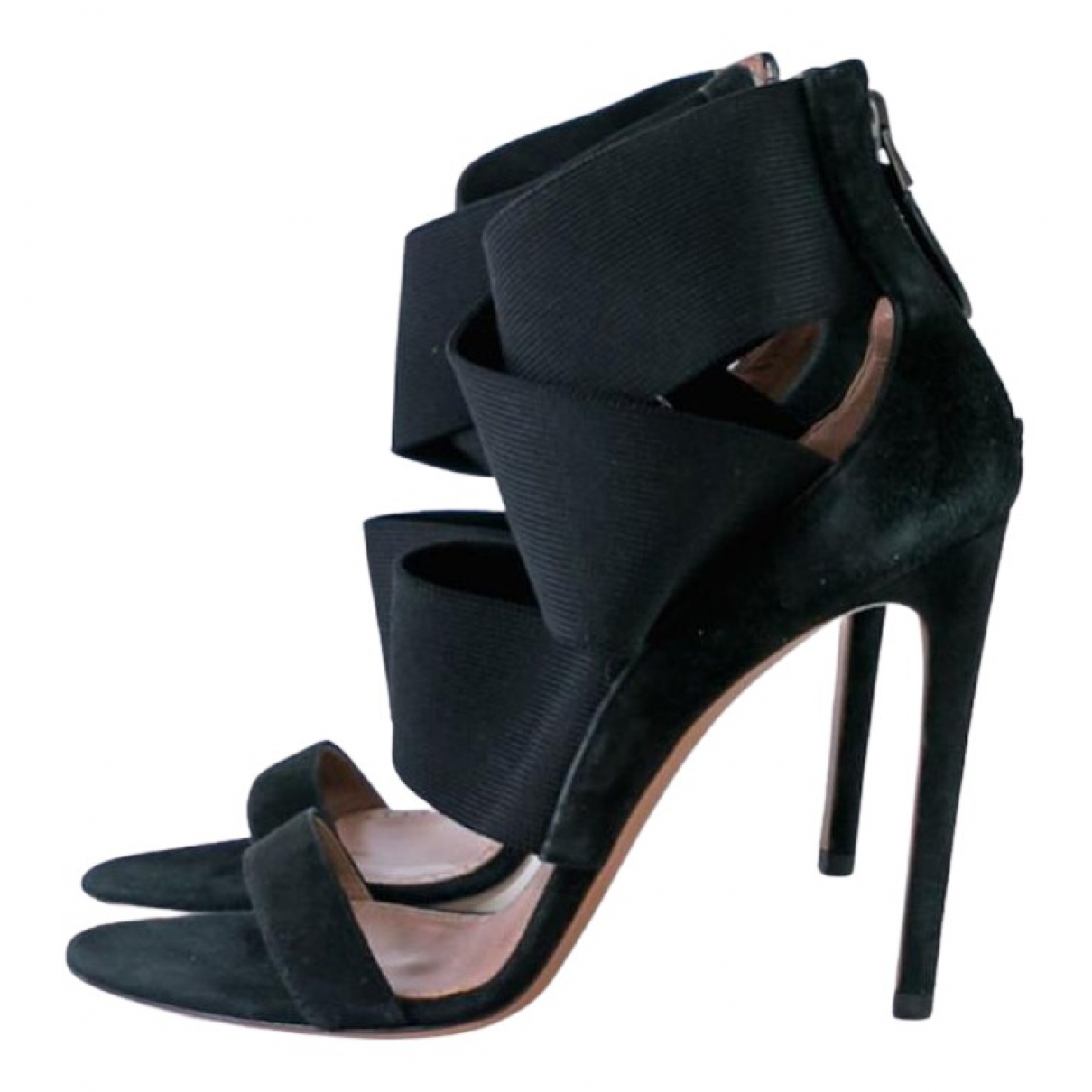 Alaïa N Black Leather Sandals for Women 38.5 EU