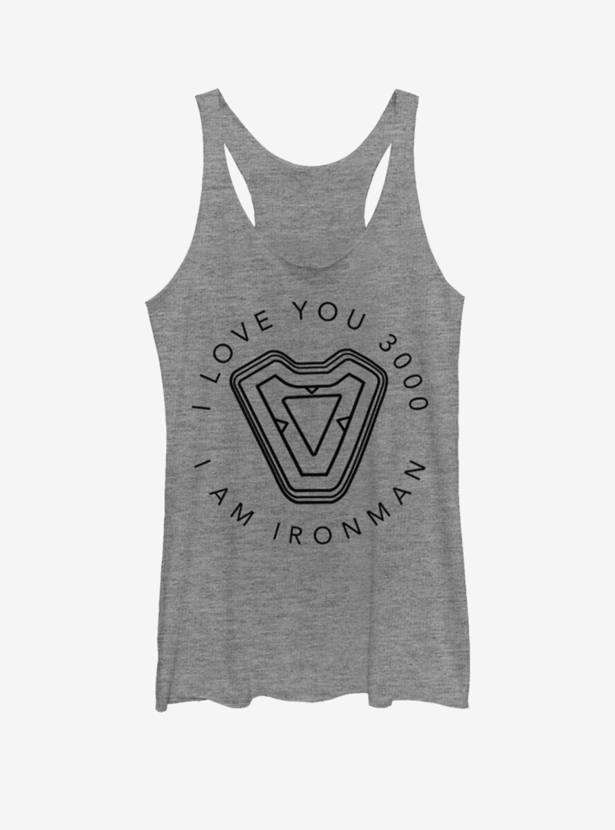 Marvel Iron Man Iron Man's Heart Womens Tank Top