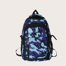 Men Camo Graphic Large Capacity Backpack