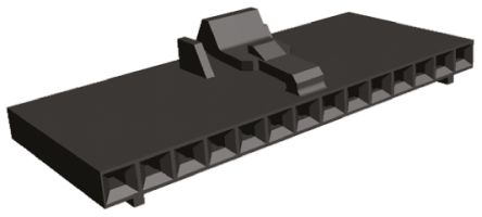 TE Connectivity , AMPMODU MTE Female Connector Housing, 2.54mm Pitch, 14 Way, 1 Row