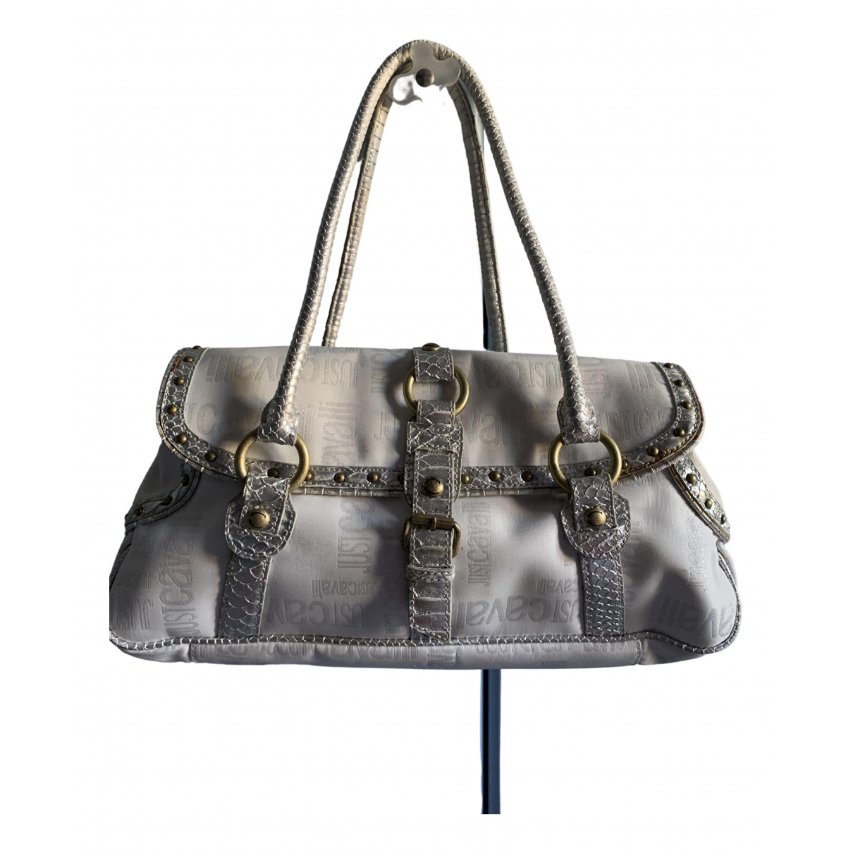 Just Cavalli N White Leather handbag for Women N