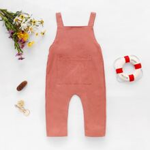 Toddler Girls Pocket Front Overall Jumpsuit