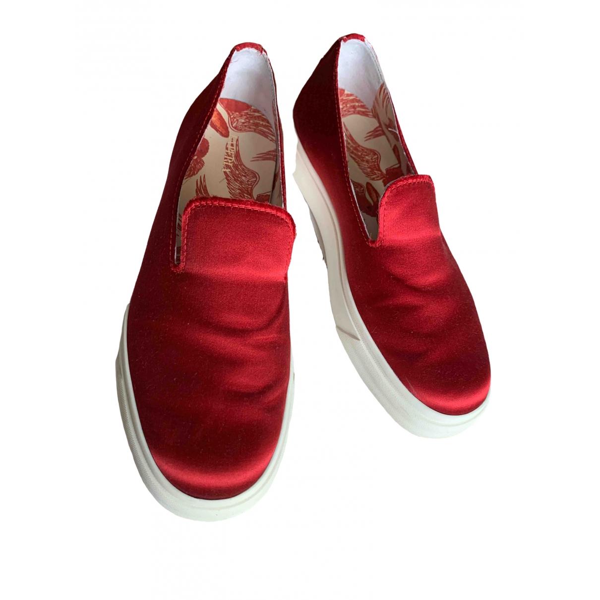 Giuseppe Zanotti - Baskets   pour homme en toile - rouge