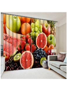 3D Reactive Printing Two Panels Polyester Curtain