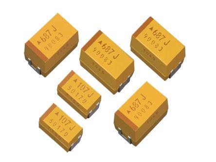 AVX Tantalum Capacitor 47μF 16V dc Electrolytic Solid ±10% Tolerance , TPS (25)