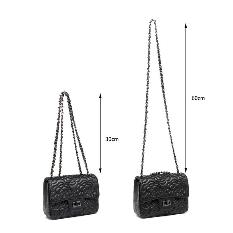 Ericdress Embossing Floral PU Rectangle Crossbody Bags