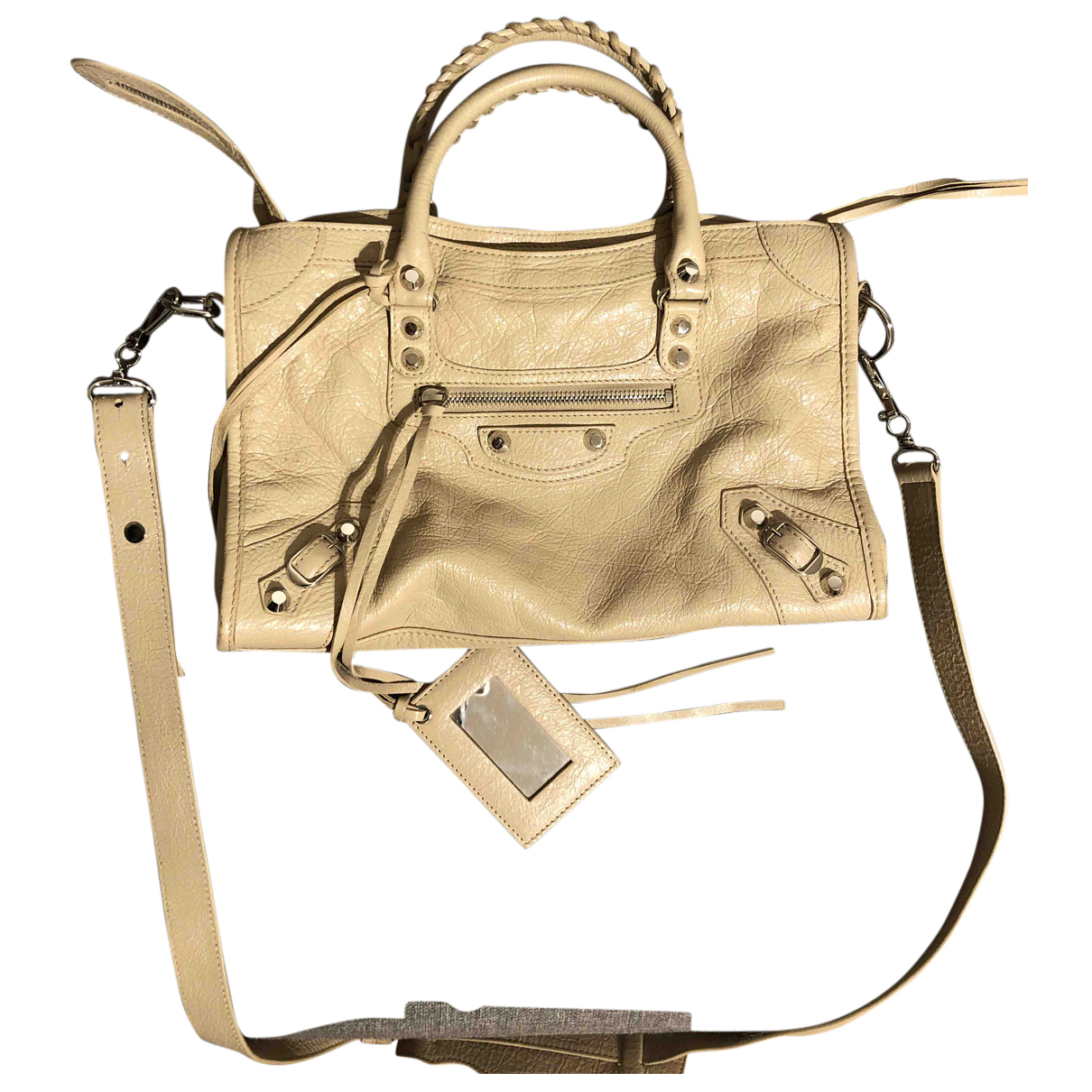 Balenciaga City Beige Leather handbag for Women N