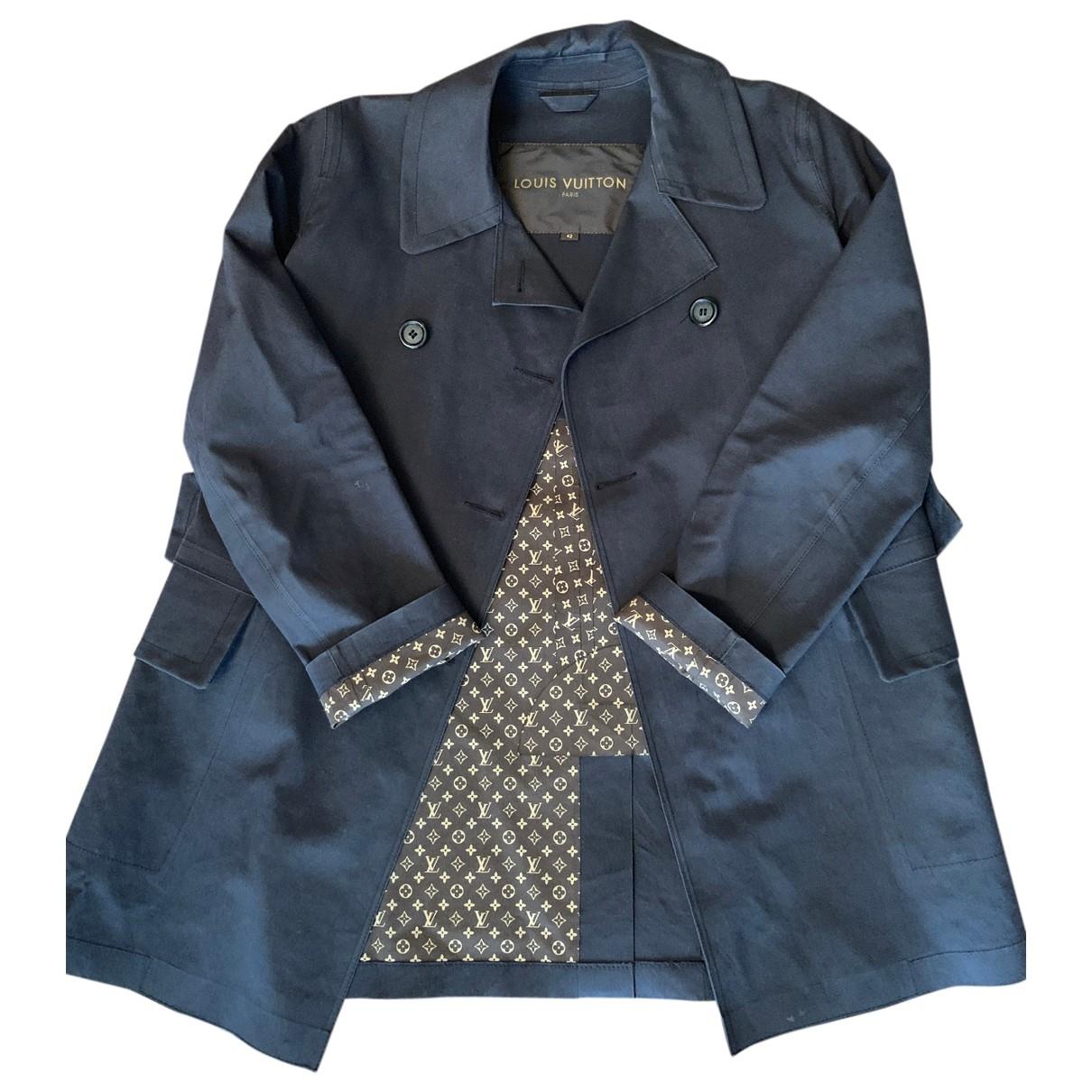 Abrigo en Algodon Negro Louis Vuitton